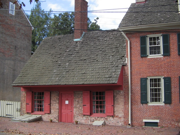 "The 17th century ""Dutch House"" in New Castle, Delaware, which was founded by Peter Stuyvesant."