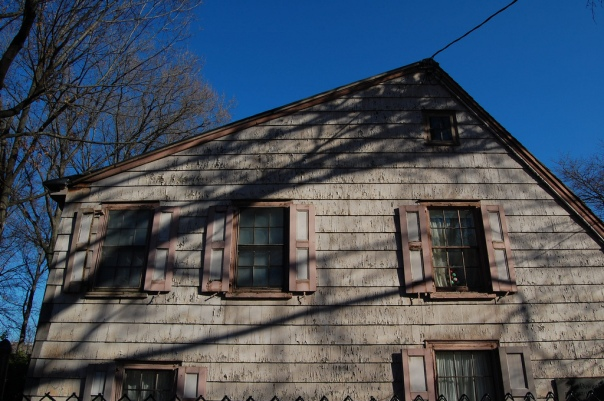 "The house of John Bowne, a noted Quaker, who left repression in New England for the Dutch colony of Vlissingen (Flushing).  He was arrested by Peter Stuyvesant for having a Quaker meeting in this house in 1662.  Outcry over the arrest led to the ""Flushing Remonstrance""   It is the second oldest structure in New York City,"
